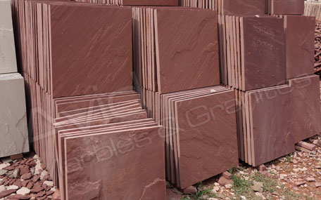 Agra Red Sawn Sandstone Paving Exporters in India
