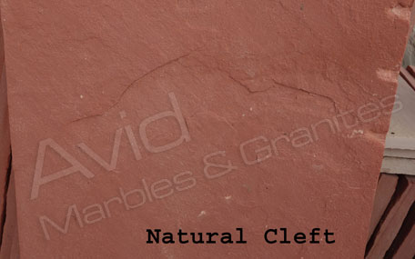 Agra Red Riven Sandstone Paving Suppliers in India