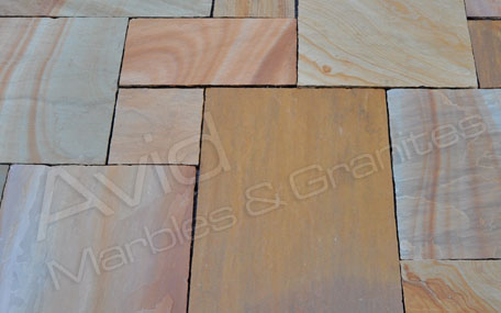 Camel Dust Sawn Sandstone Paving Exporters in India