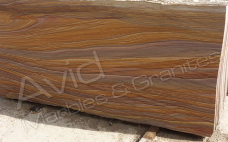 Rainbow Smooth Sandstone Paving Suppliers from India