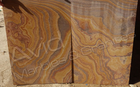 Rainbow Sawn Sandstone Paving Exporters in India