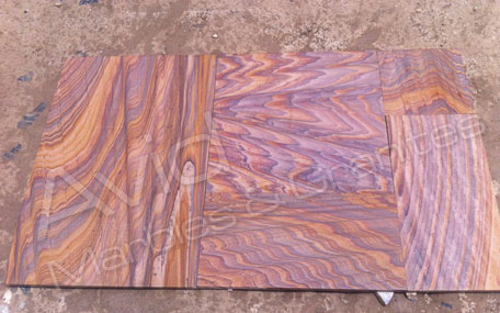 Rainbow Sandstone Paving Slabs Suppliers in India