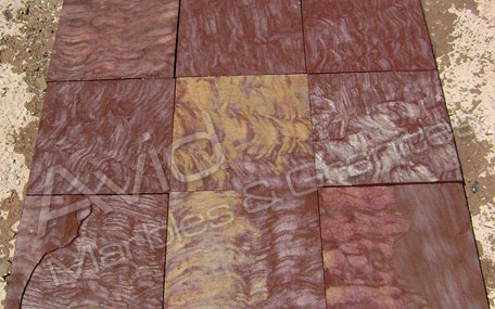 Speckle Brown Sawn Sandstone Paving Exporters in India