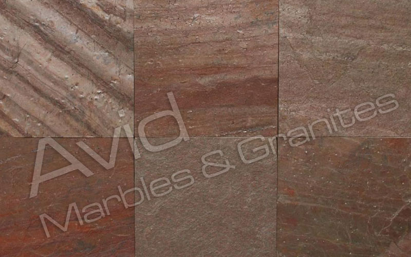 Copper Red Quartzite Manufacturers from India