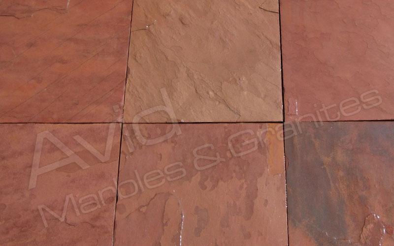 Terra Red Slate Flooring Tiles Suppliers Manufacturer Exporter