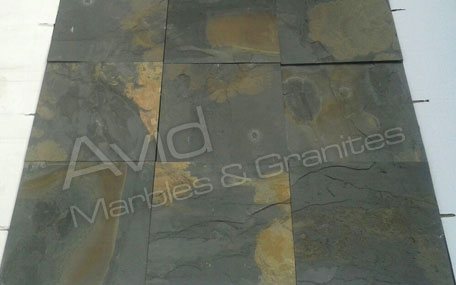Black Rustic Slate Tiles Suppliers from India