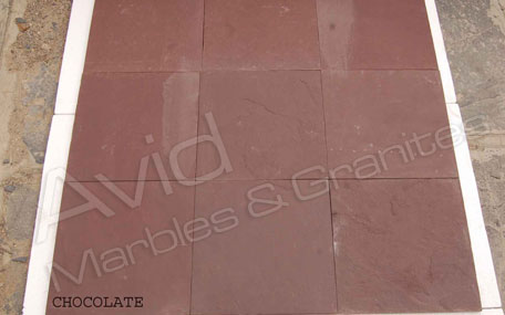 Chocolate Slate Tiles Suppliers from India