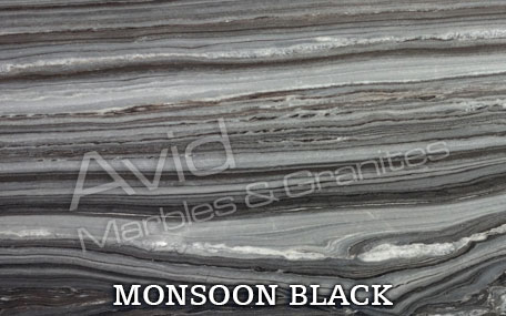 Monsoon Black Natural Ledge Stone Suppliers in India