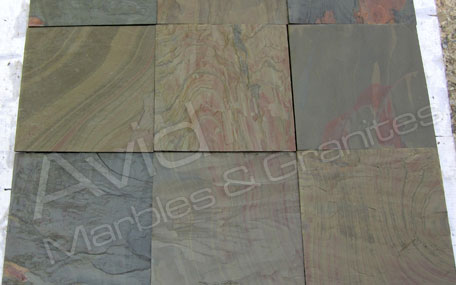Multi Pink Slate Tiles Suppliers from India