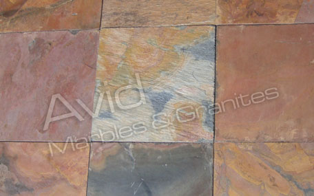 Rajah Red Slate Tiles Suppliers from India