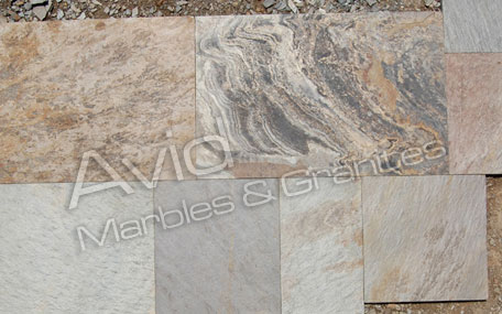 SRA Multicolor Slate Tiles Suppliers from India